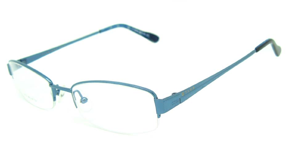 blue metal rectangular glasses frame   HL-YLON2361-L