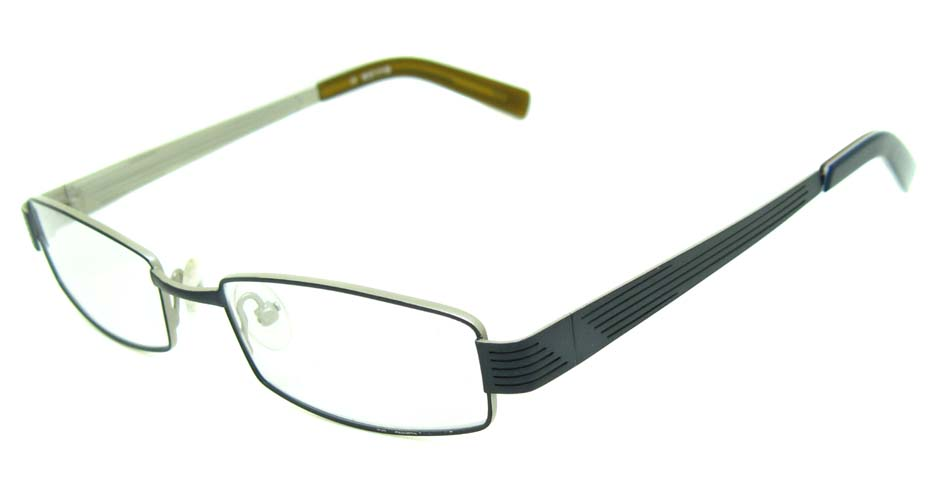 blue metal rectangular glasses frame HL-5393