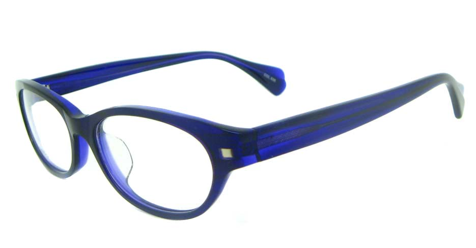 blue oval plastic glasses frame YL-JB8315-C535