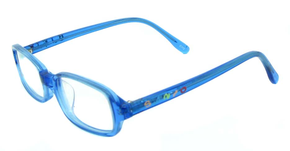 blue plastic rectangular glasses frame  JNY-BL6239-C112