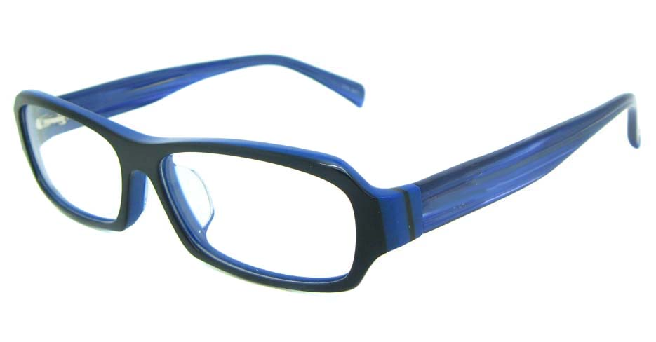 blue plastic rectangular glasses frame YL-RB8319-C547