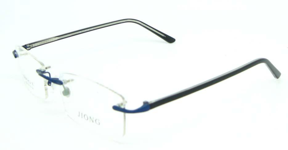 blue rectangle blend glasses frame JNY-JIONG1136-L