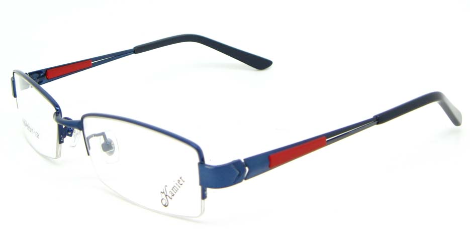 blue with red blend rectangular  glasses frame WKY-KM5529-L