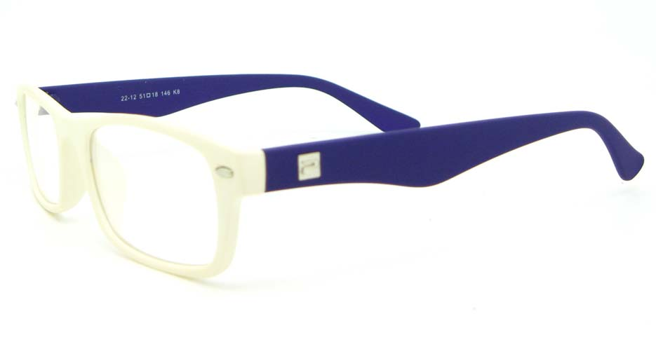 blue with white retro plastic oval glasses frame WLH-2212-K8