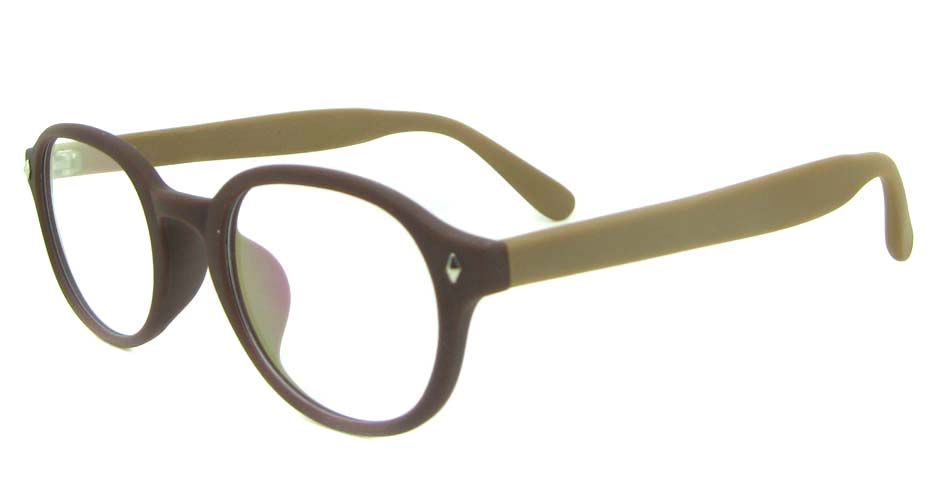 brown TR  round   glasses frame YL-KLD-8068-C5