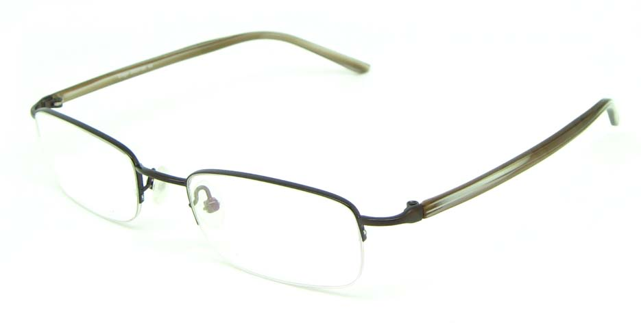 brown blend rectangular  glasses frame  HL-HY55182-MBR