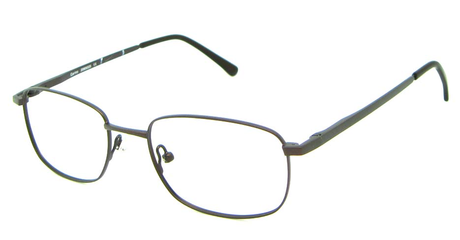 brown metal oval glasses frame  HL-HM55427-BR