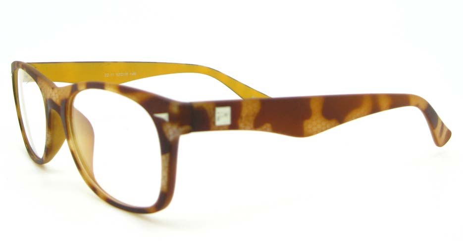 brown plastic oval glasses frame WLH-2211-K125