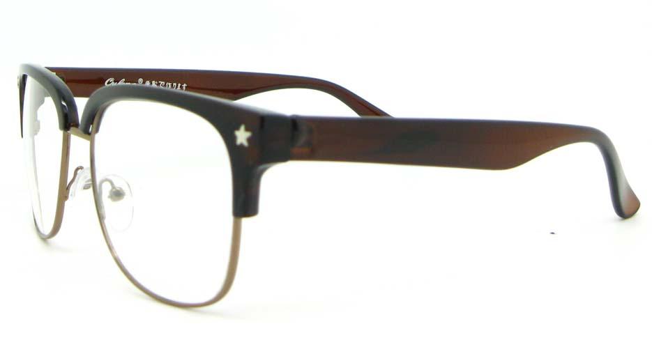 brown retro blend  glasses frame WLH-OF1831-C6