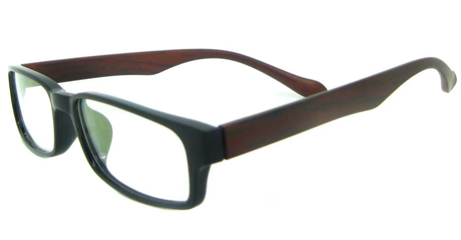 brown with black tr90 Rectangular glasses frame YL-KDL8039-C7