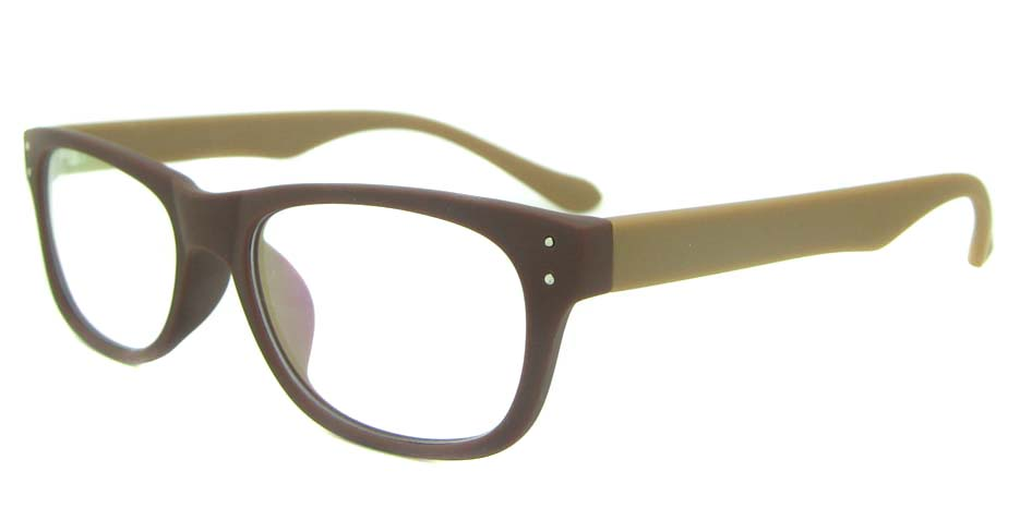 brown with tea tr90 oval glasses frame YL-KDL8051-C5