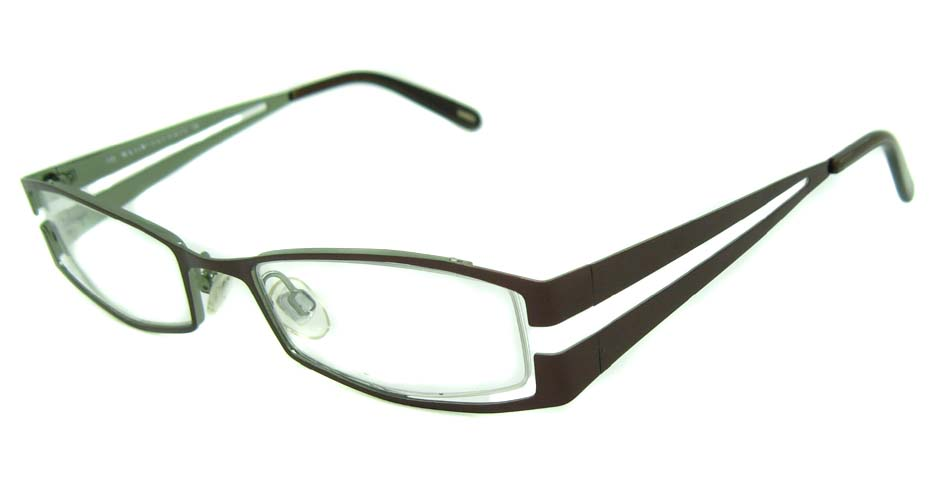 coffee metal rectangular  glasses frame HL-209