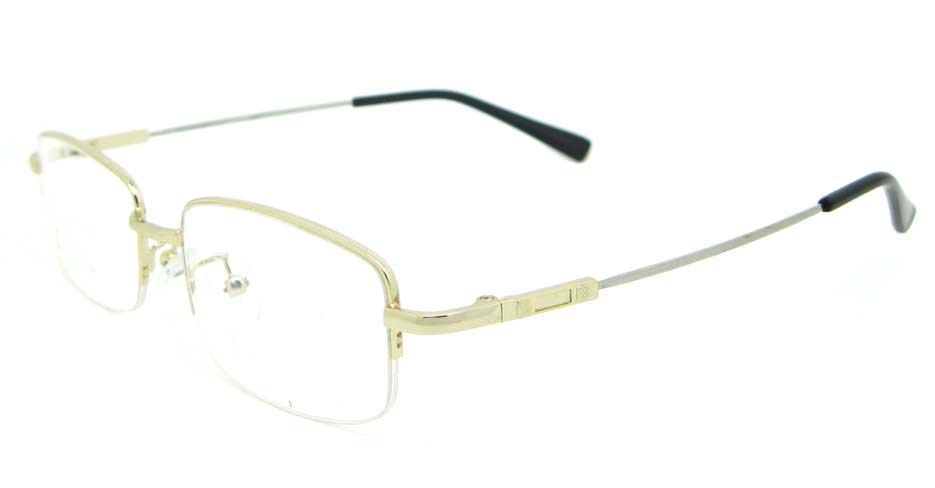 gold metal Rectangular  glasses frame WKY-ASR8111-J