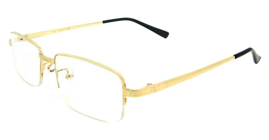 gold metal Rectangular glasses frame  WKY-ASR7151-J