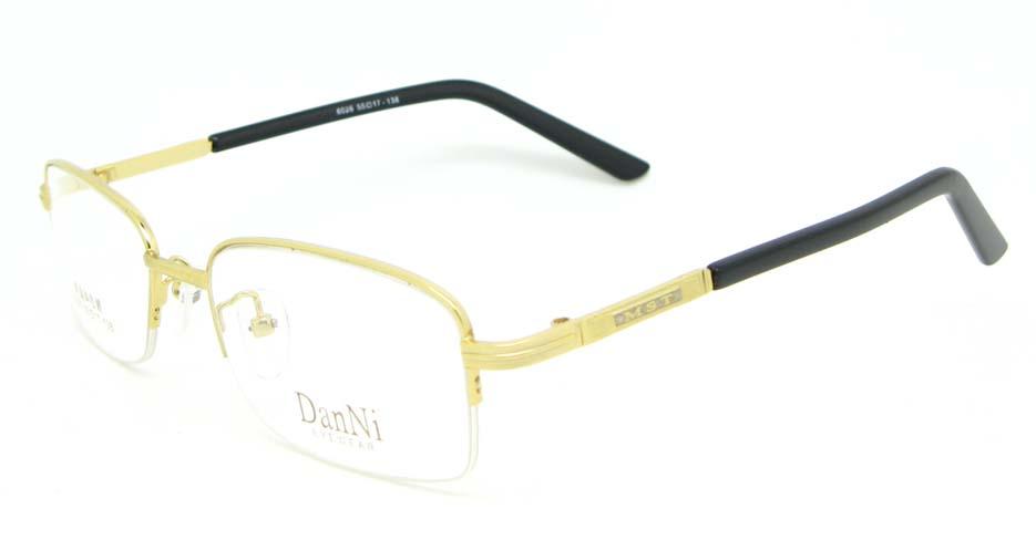 gold metal Rectangular glasses frame WKY-DNI6026-J