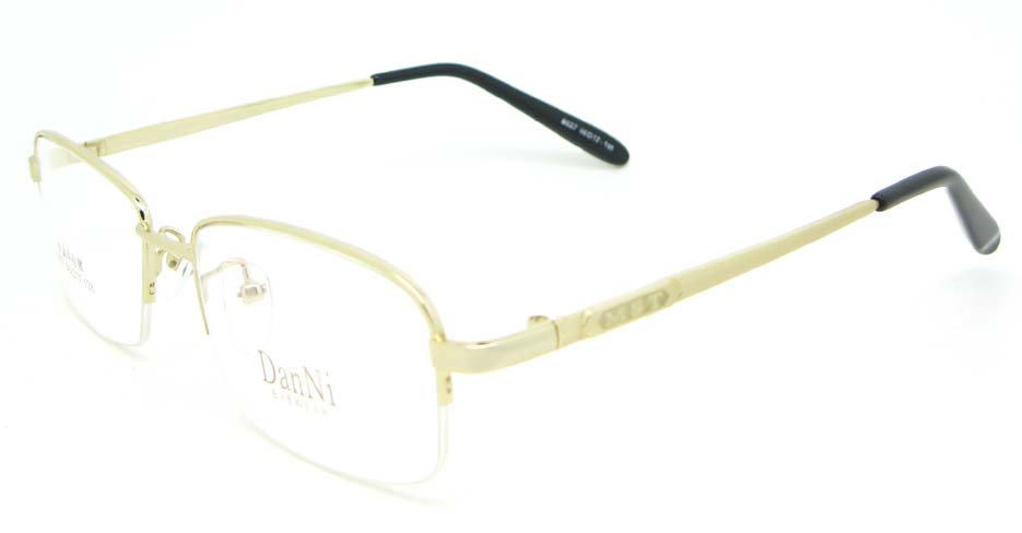 gold metal Rectangular glasses frame WKY-DNI6027-J