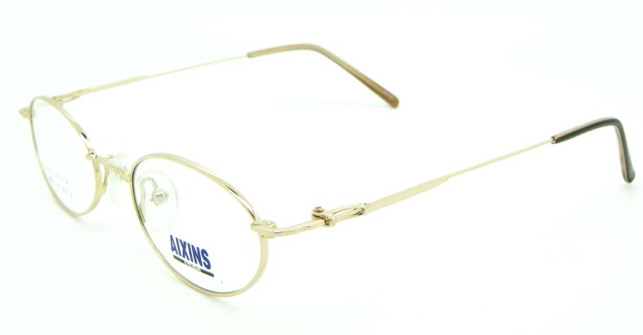 gold metal oval glasses frame JNY-AO2347-J
