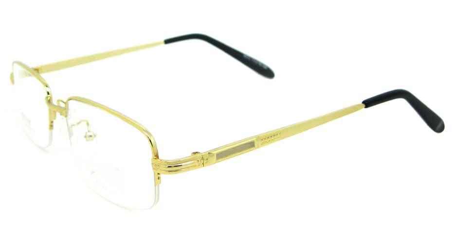 gold metal rectangular glasses frame WKY-DNI6015-J