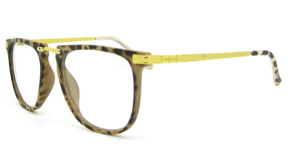gold with brown Wayfarer blend glasses frame  WLH-5025-C4