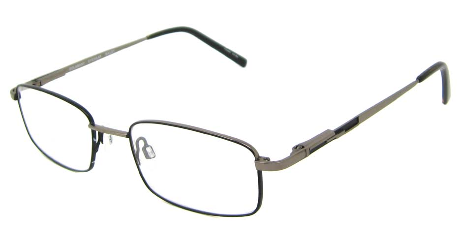grey  oval metal glasses frame HL-DOLA001-HZS