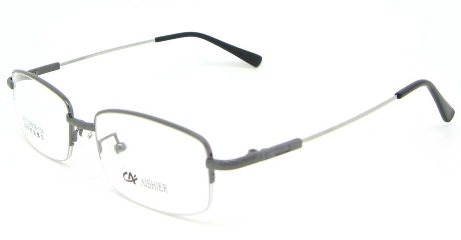 grey metal Rectangular  glasses frame WKY-ASR8111-Q