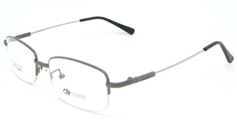 grey metal Rectangular  glasses frame WKY-ASR8111-Q