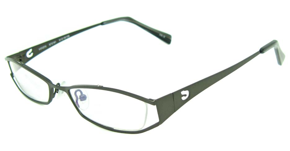 grey metal oval  glasses frame  HL-ST2181
