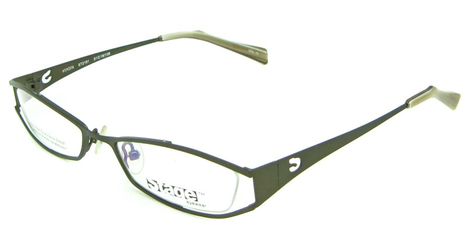 grey metal oval  glasses frame HL-ST2181-10