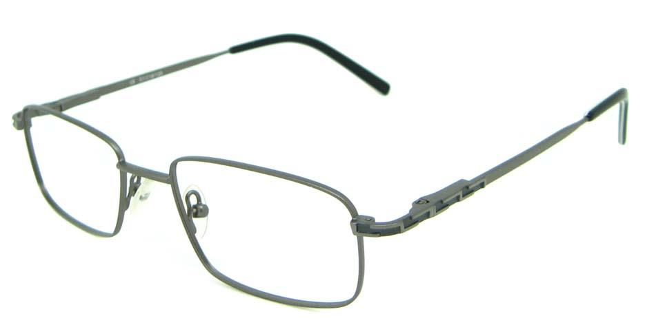 grey metal oval glasses frame HL-1755-001