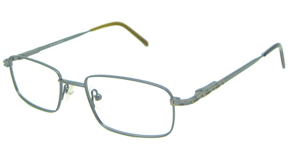 grey metal oval glasses frame HL-1755-002