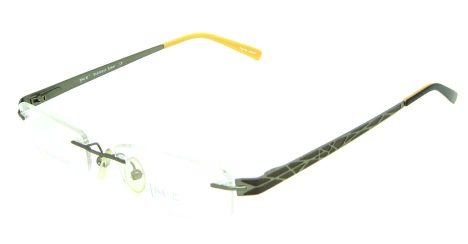 grey metal rectangular  glasses frame  HL-PM671-c50