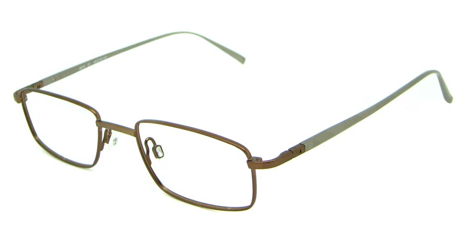 grey metal rectangular glasses frame  HL-UR8673-C1
