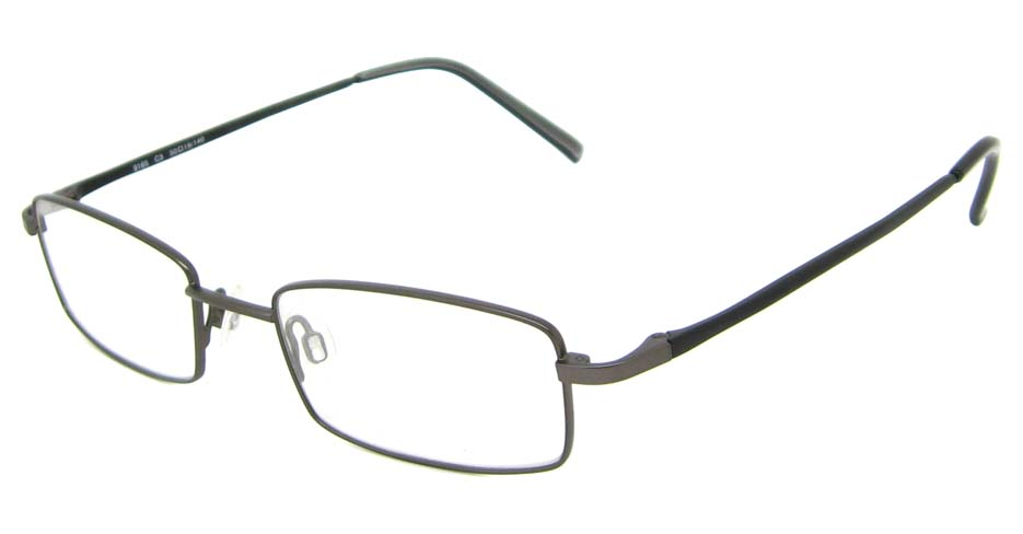 grey metal rectangular glasses frame HL-9165-C3
