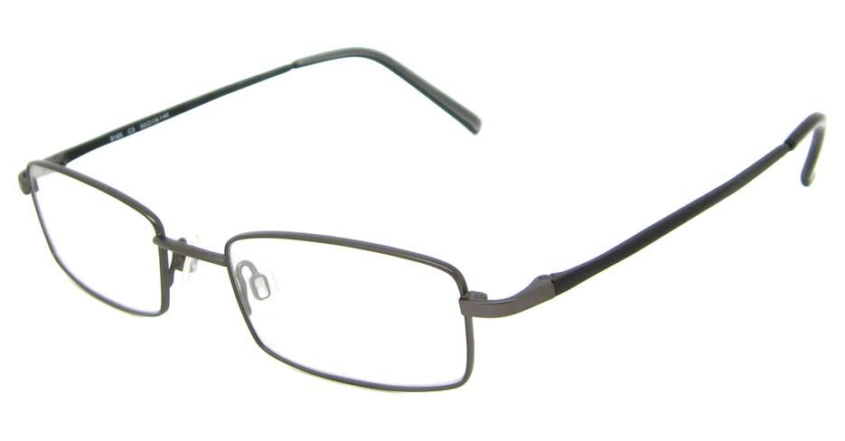 grey metal rectangular glasses frame HL-9165-C3