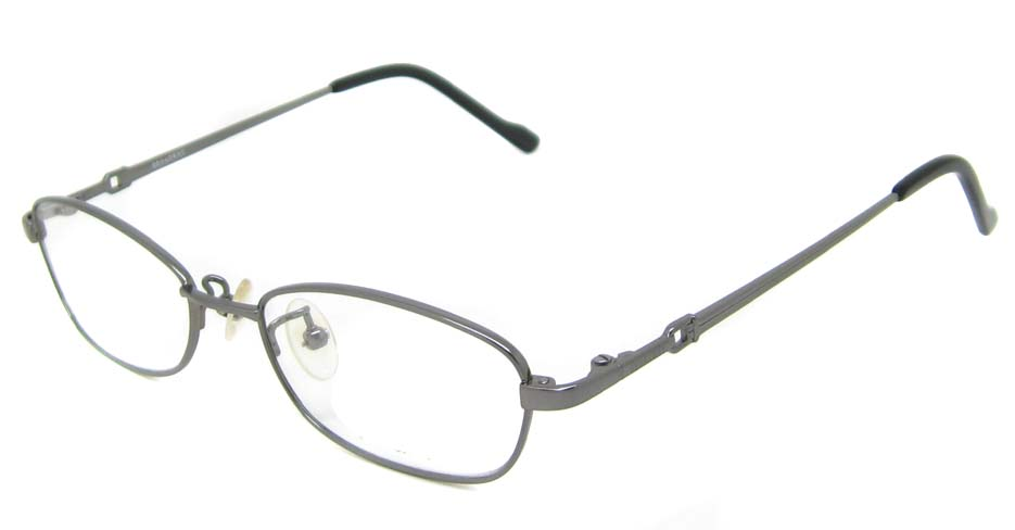 grey oval titanium  glasses frame  HL-b2025-E03