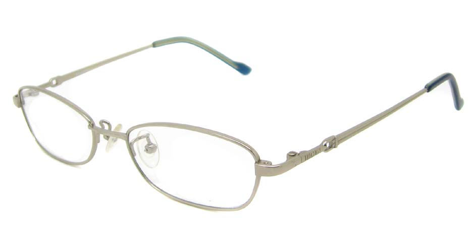 grey oval titanium glasses frame HL-BW2025-E02