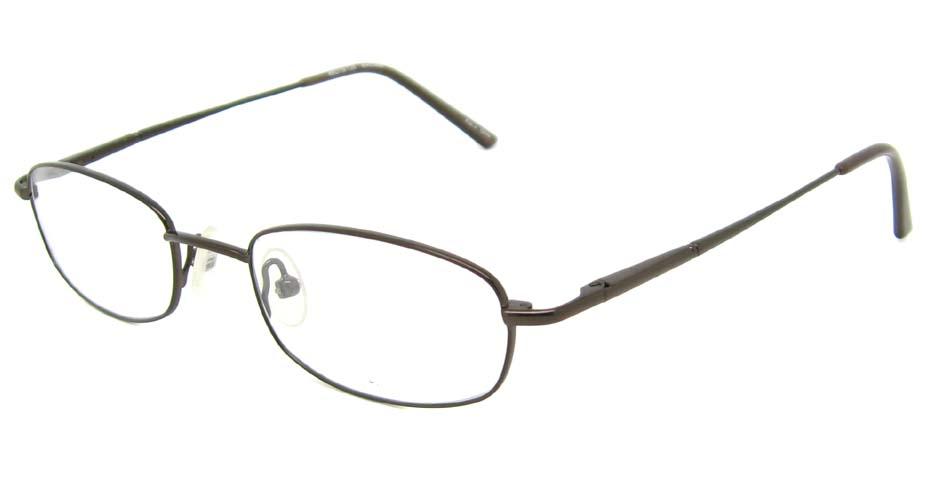 grey rectangular metal glasses frame  HL-CELLE-B