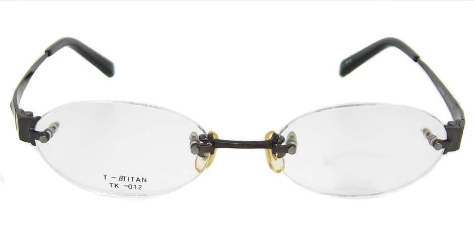 titanium rimless glasses