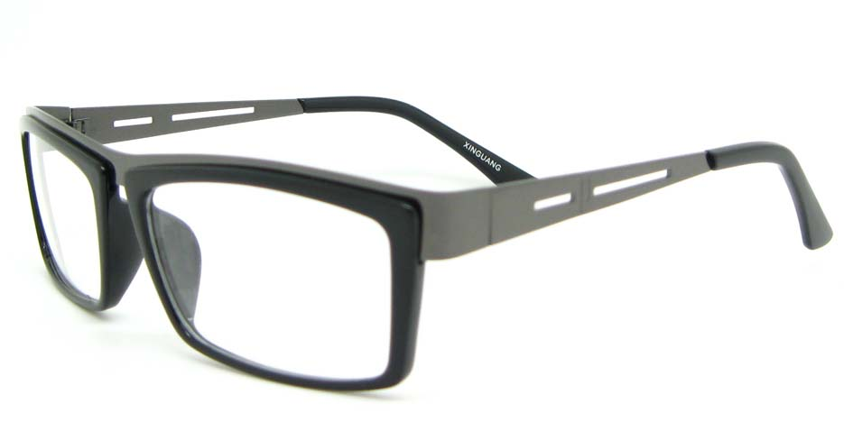 grey with black blend rectangular glasses frame WLH-SH511-C1