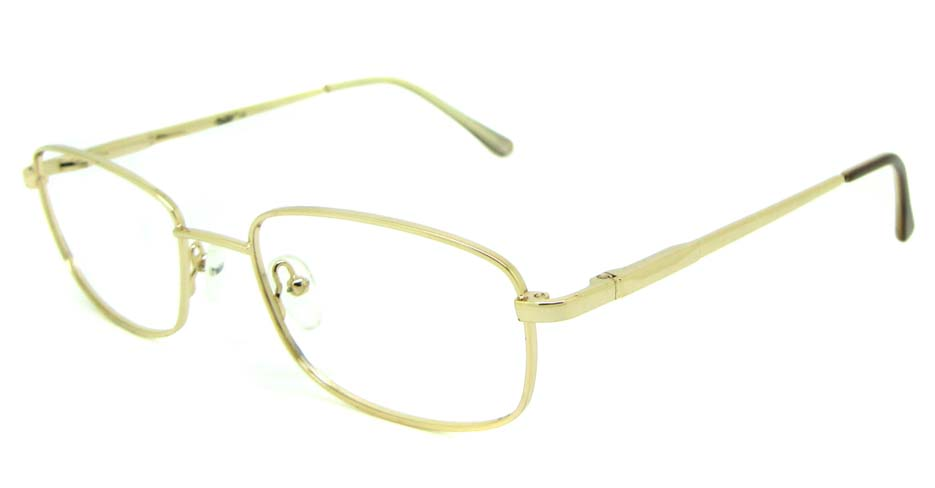 khaki metal oval glasses frame  HL-AE805-C1