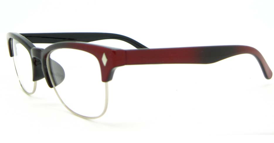 oval brown blend retro glasses frame  WLH-0026-C1