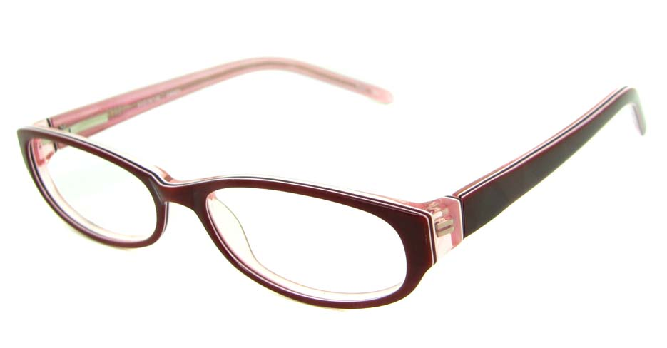 pink acetate rectangular glasses frame HL-BUM0001-H