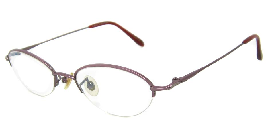 pink cat eye rectangular  titanium glasses frame HL-V640