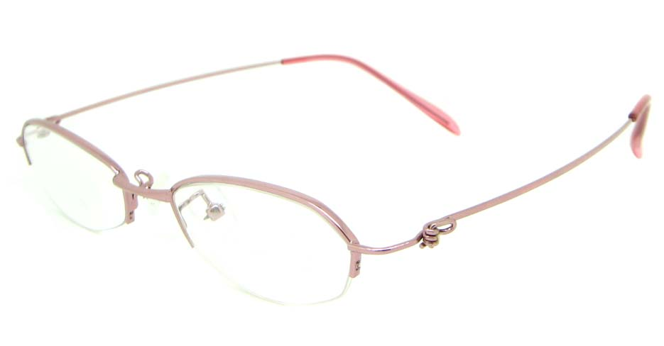 pink metal cat eye glasses frame JS-SML3025-F
