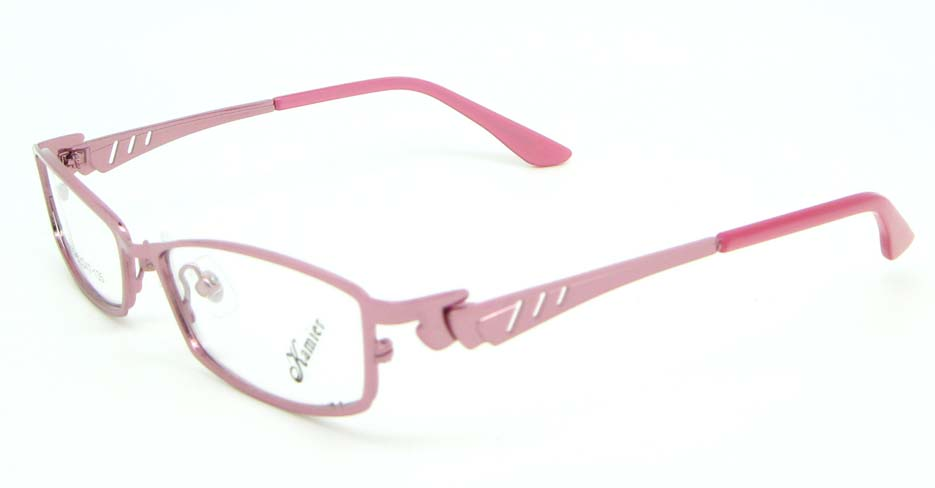 pink metal oval glasses frame  JNY-KM8825-F