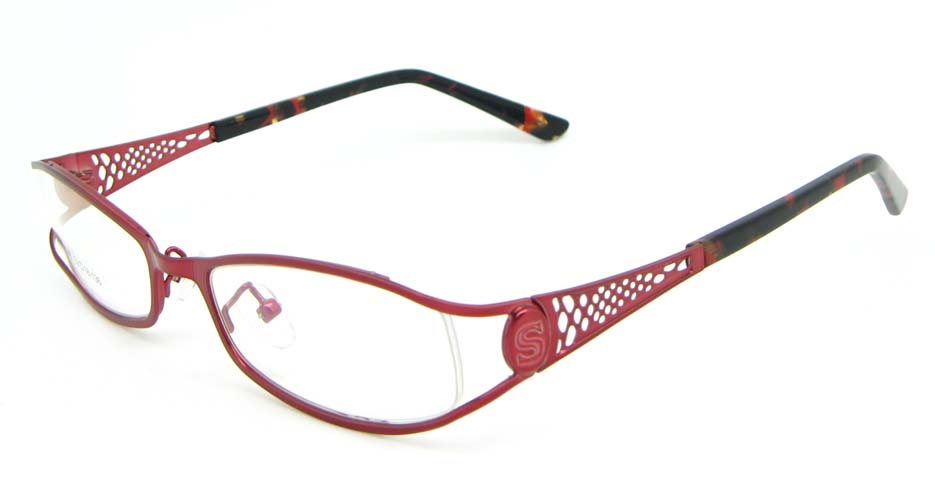 pink metal oval glasses frame WKY-XDBL508-H