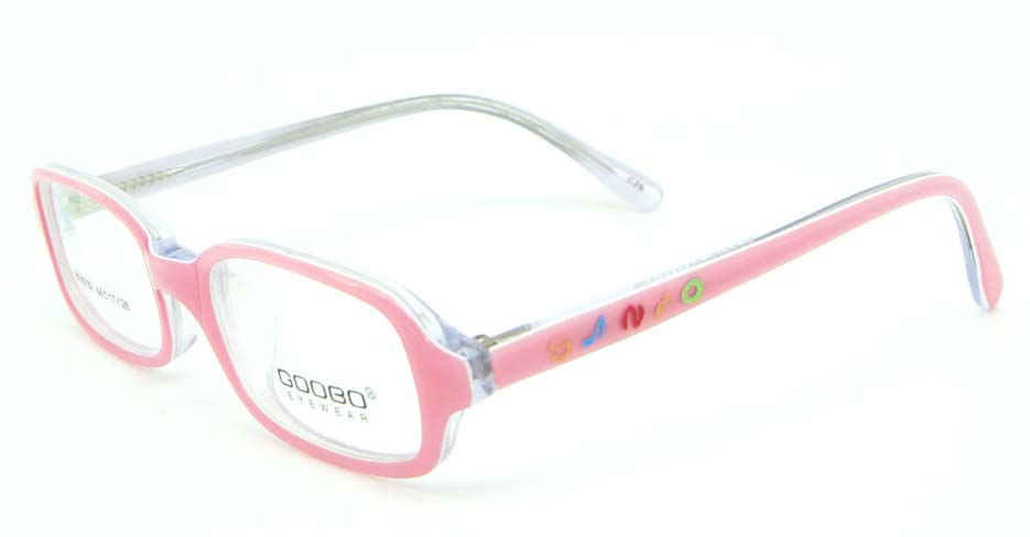 pink plastic rectangular glasses frame JNY-BL6239-C79