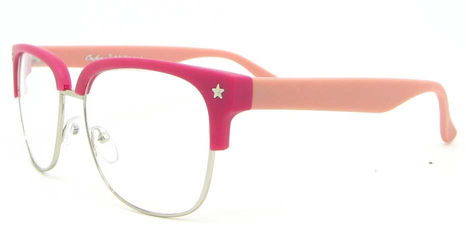 pink retro blend  glasses frame WLH-OF1831-C9