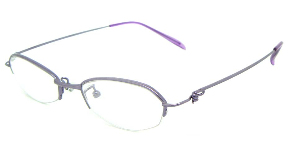 purple metal cat eye glasses frame JS-SML3025-Z