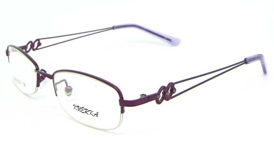 purple oval metal glasses frame WKY-KM5528-z